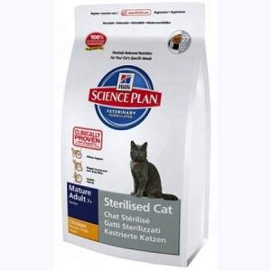 Hill's Science Plan Feline Mature Adult 7+ Sterilised Cat с Курицей