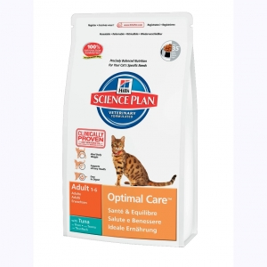 Hill's Science Plan Feline Adult Optimal Care с Тунцом