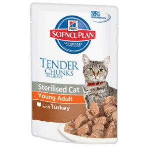 Hill's Sterilised Cat Young Adult turkey с Индейкой