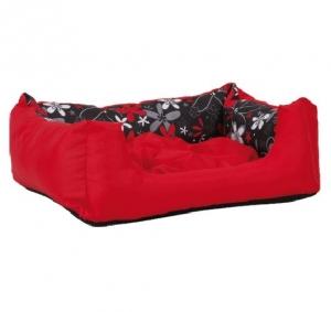 Лежак квадратный с подушкой Crazy S 40x30x17 cm