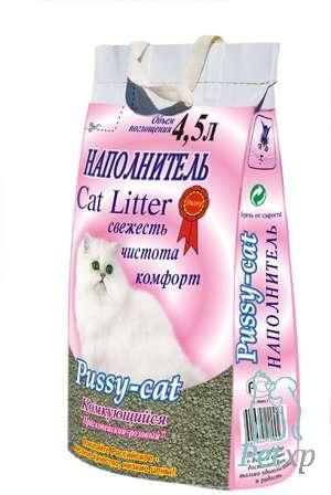 Наполнитель Pussy Cat (комкующийся)
