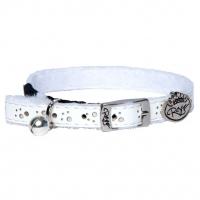 Ошейник ROGZ Trendycat Leather White (ширина: 11 мм., шея 25,5-31 см.)