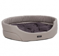 Лежак овальной формы с подушкой Exclusive L 70x63x16 cm