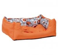 Лежак квадратный с подушкой Crazy L 55x40x19 cm